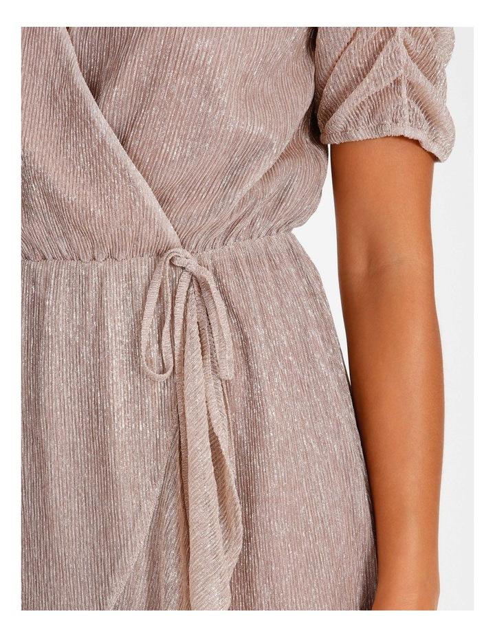 Metallic Plisse Mini Dress image 6