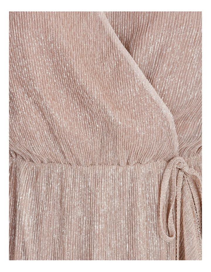 Metallic Plisse Mini Dress image 7