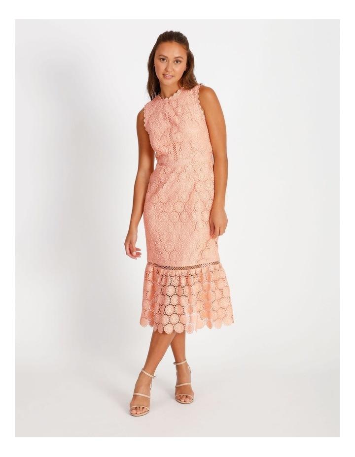 Lace Detail Midi Dress image 1