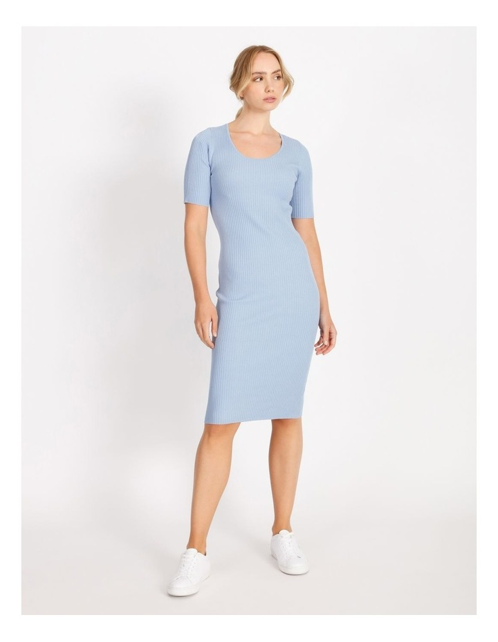 Scoop Neck Knitted Midi Dress image 1