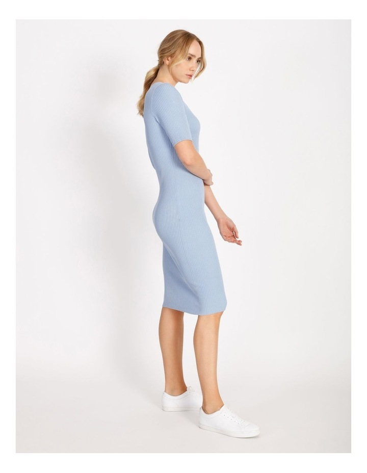 Scoop Neck Knitted Midi Dress image 2