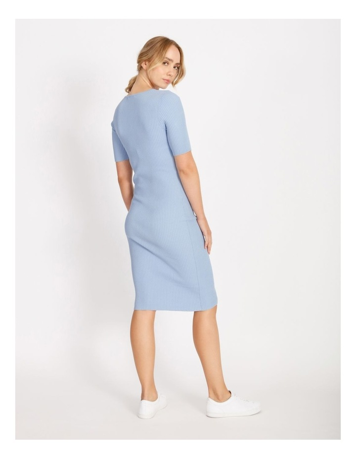 Scoop Neck Knitted Midi Dress image 3