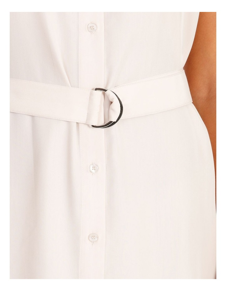 Power Shoulder Modal Blend Shirt Dress image 4