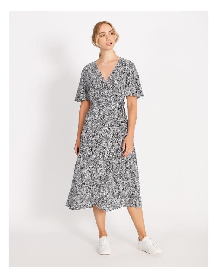 Printed Wrap Midi Dress image 1