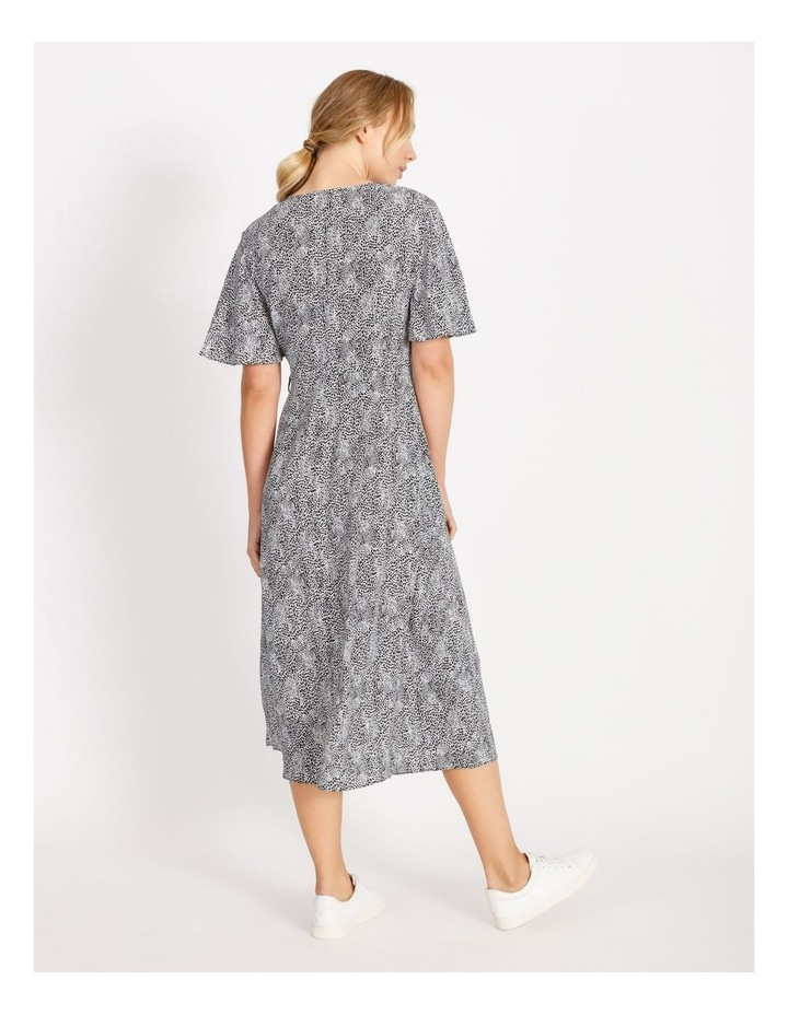 Printed Wrap Midi Dress image 3