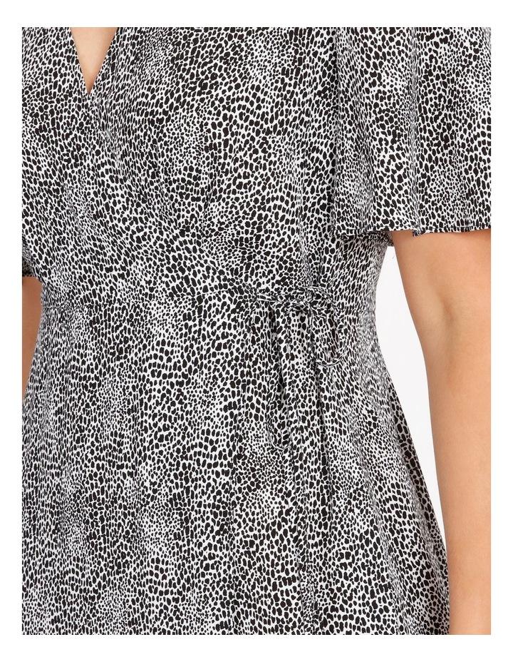 Printed Wrap Midi Dress image 4