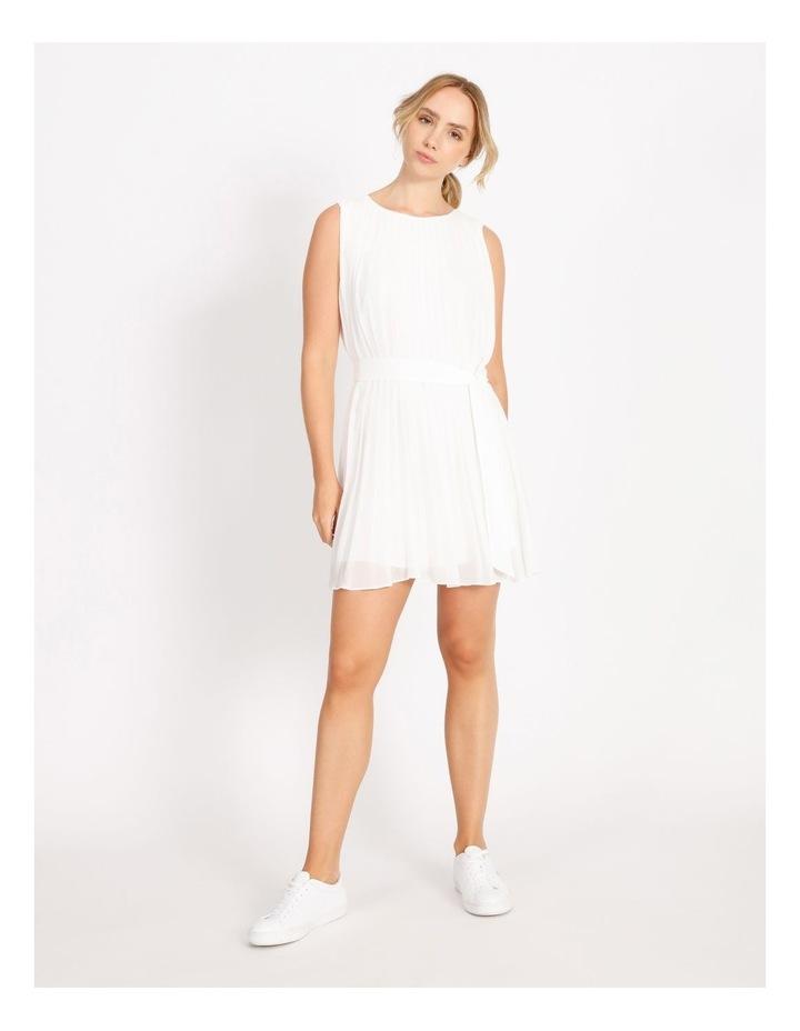 Pleated Mini Shift Dress image 1