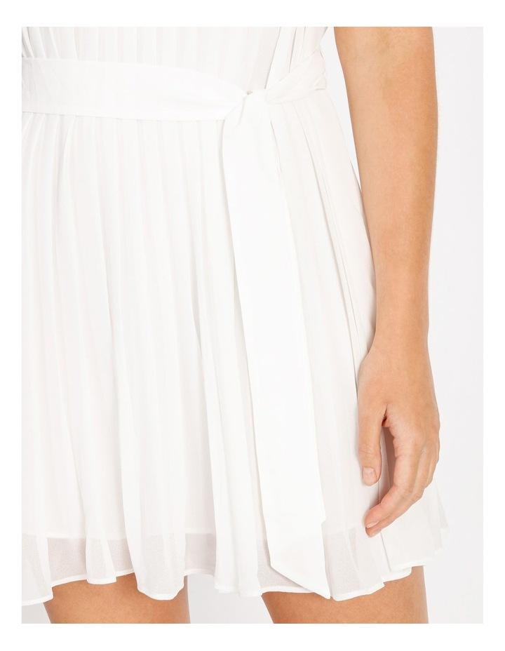 Pleated Mini Shift Dress image 4