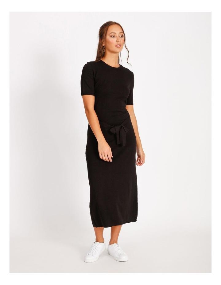 Tie Waist Midi Knit Dress image 1