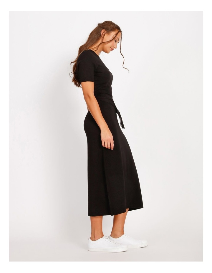Tie Waist Midi Knit Dress image 2
