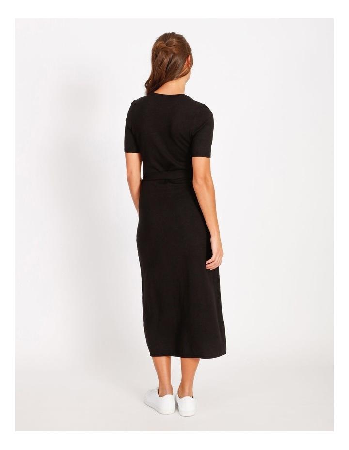 Tie Waist Midi Knit Dress image 3
