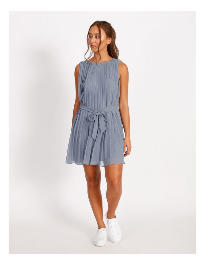 Pleated Mini Shift Dress image 1