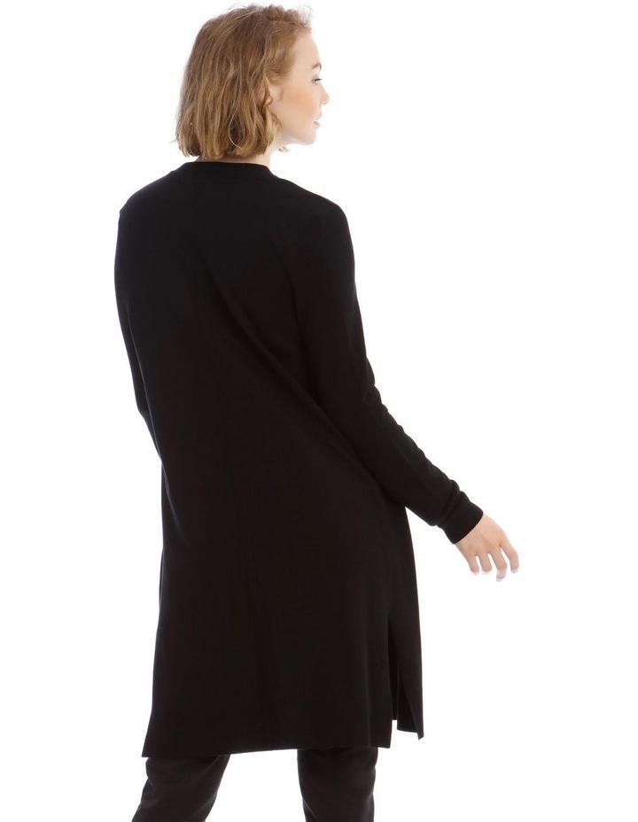 Black Long Line Cardigan image 3
