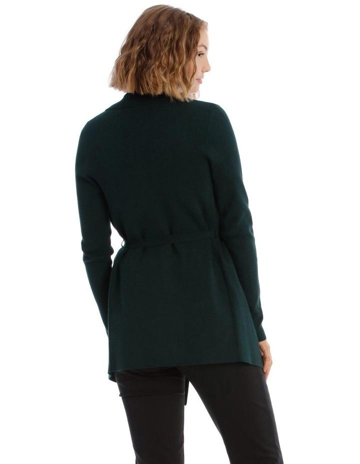 Rib Wrap Cardigan - Emerald image 3