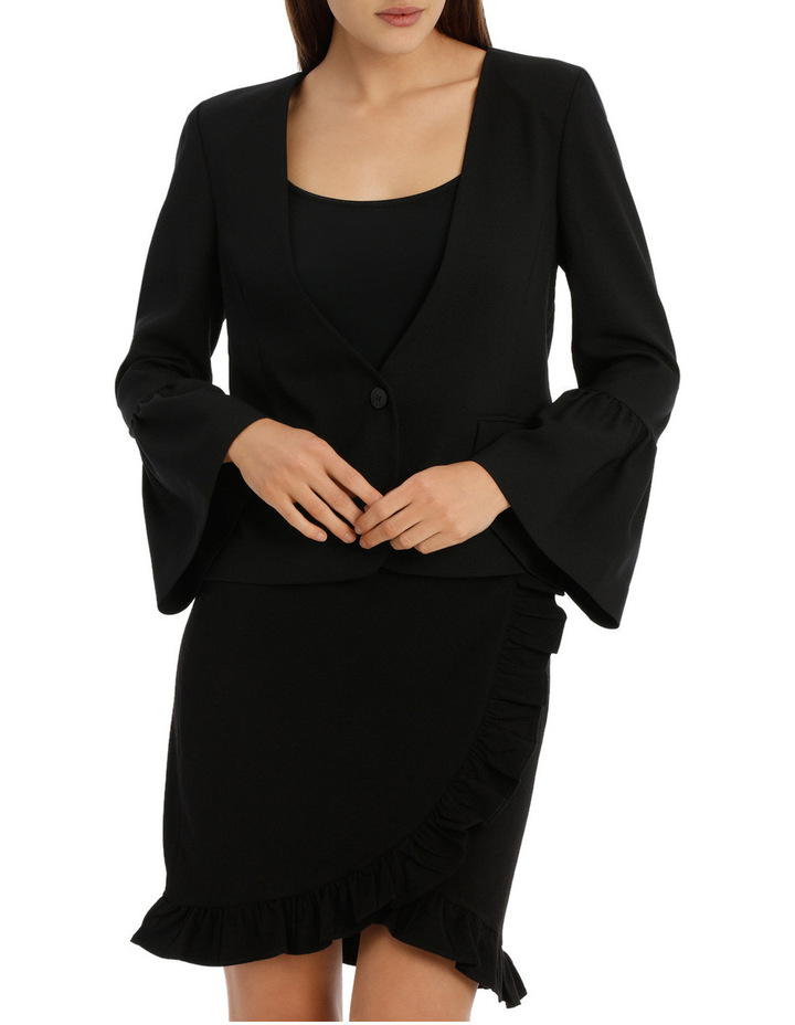 Bell Sleeve Collarless Jacket image 1
