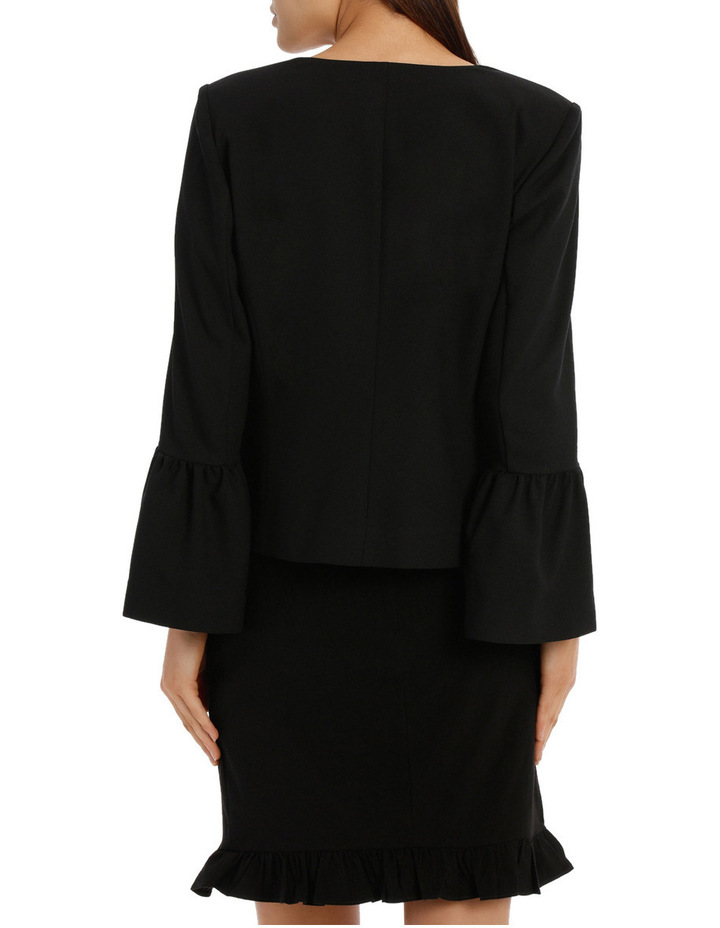 Bell Sleeve Collarless Jacket image 3