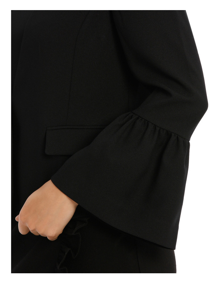 Bell Sleeve Collarless Jacket image 4