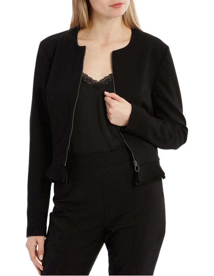 Peplum Frill Zip Up Jacket image 1