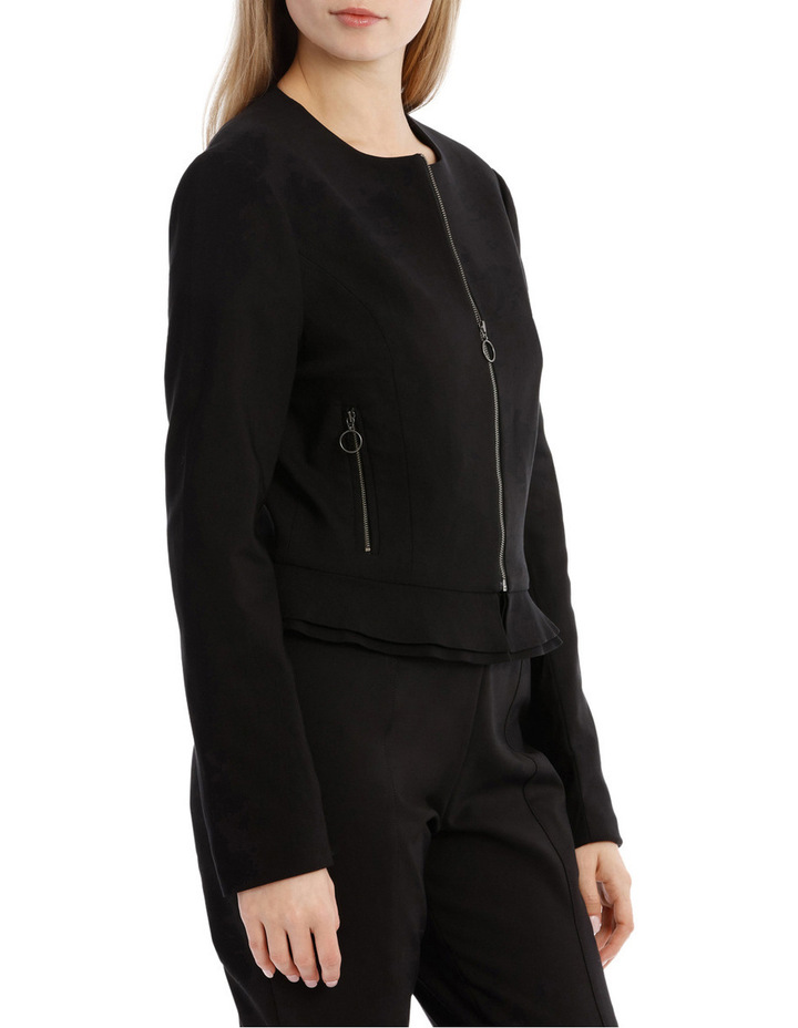 Peplum Frill Zip Up Jacket image 2