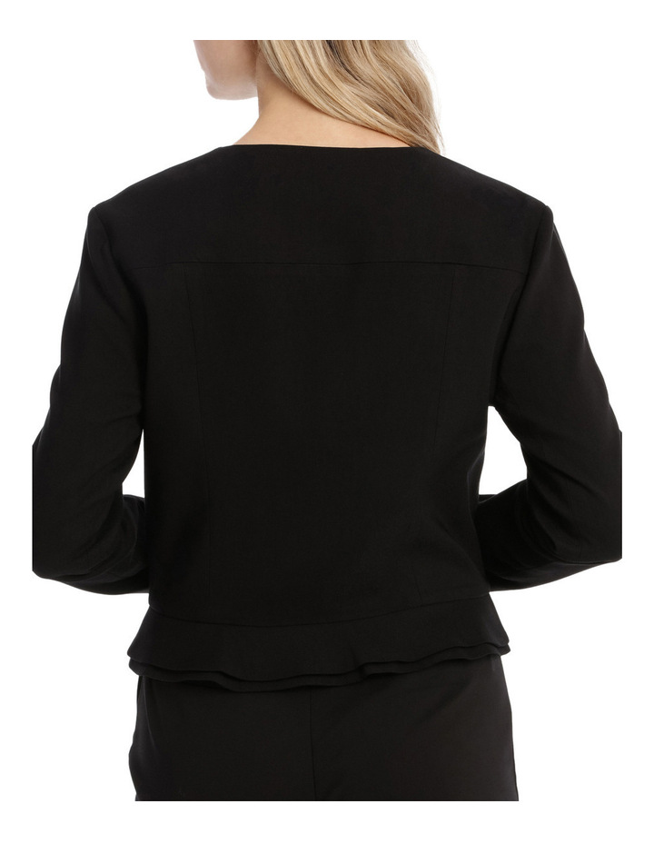 Peplum Frill Zip Up Jacket image 3