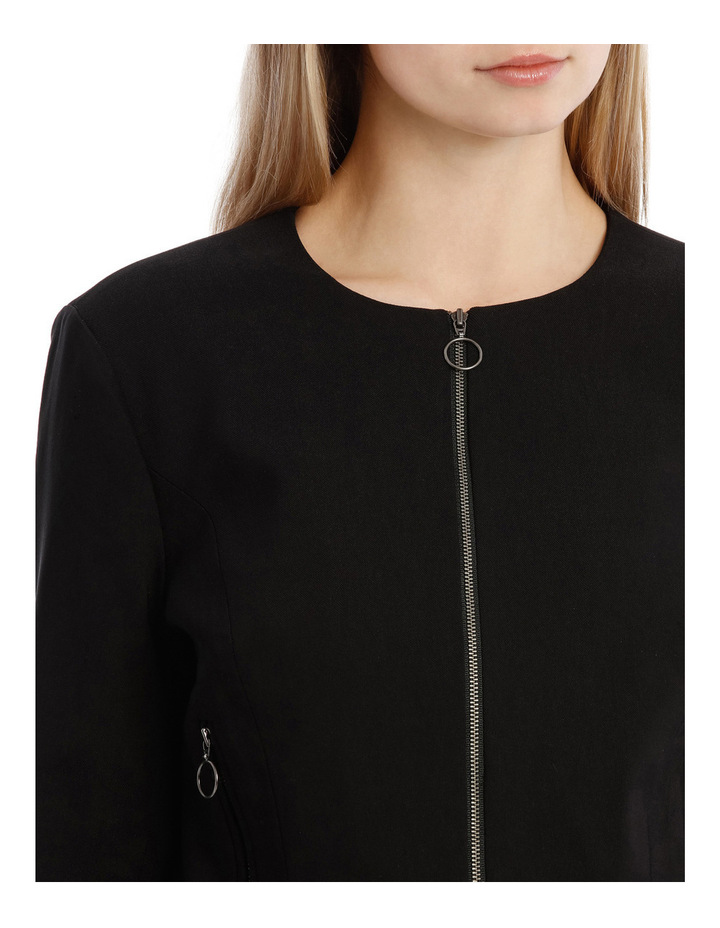 Peplum Frill Zip Up Jacket image 4