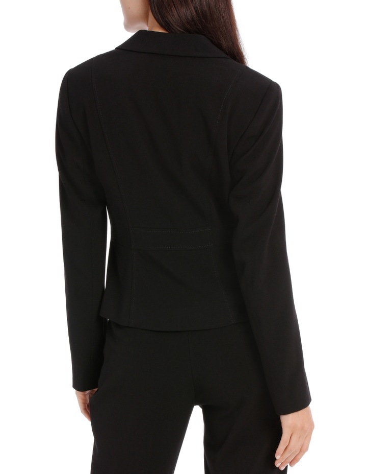 Abi One Button Blazer - Black image 3