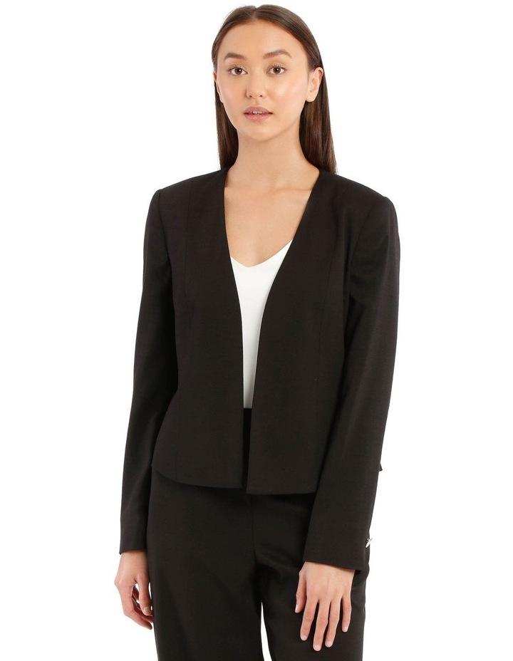 Kiera Textured Blazer - Black image 1