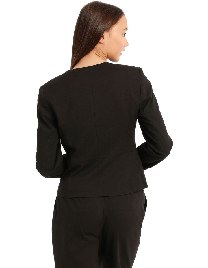 Kiera Textured Blazer - Black image 3