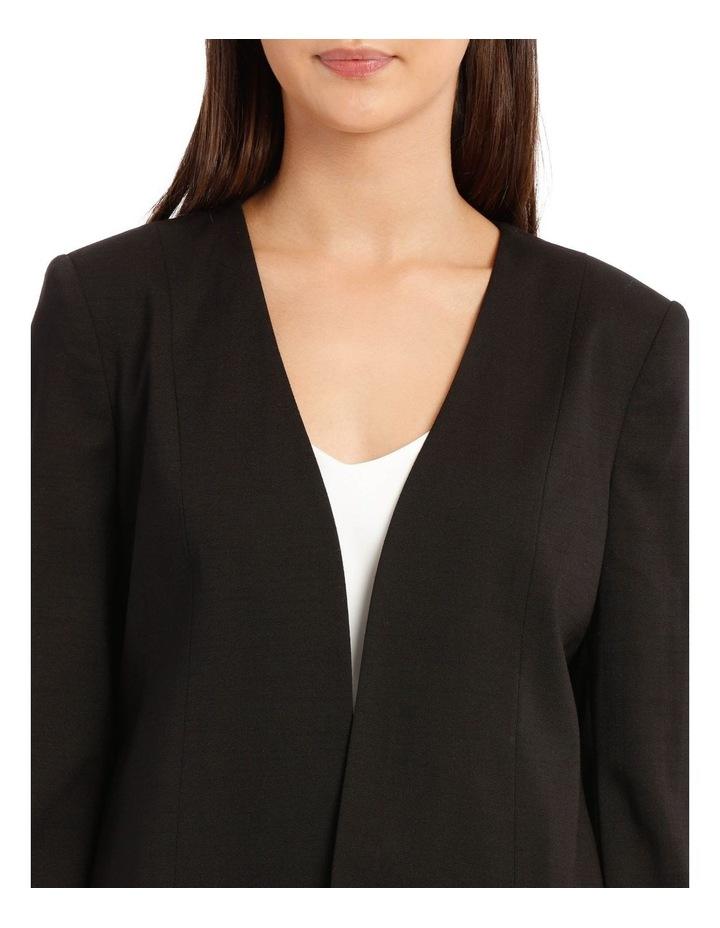 Kiera Textured Blazer - Black image 4
