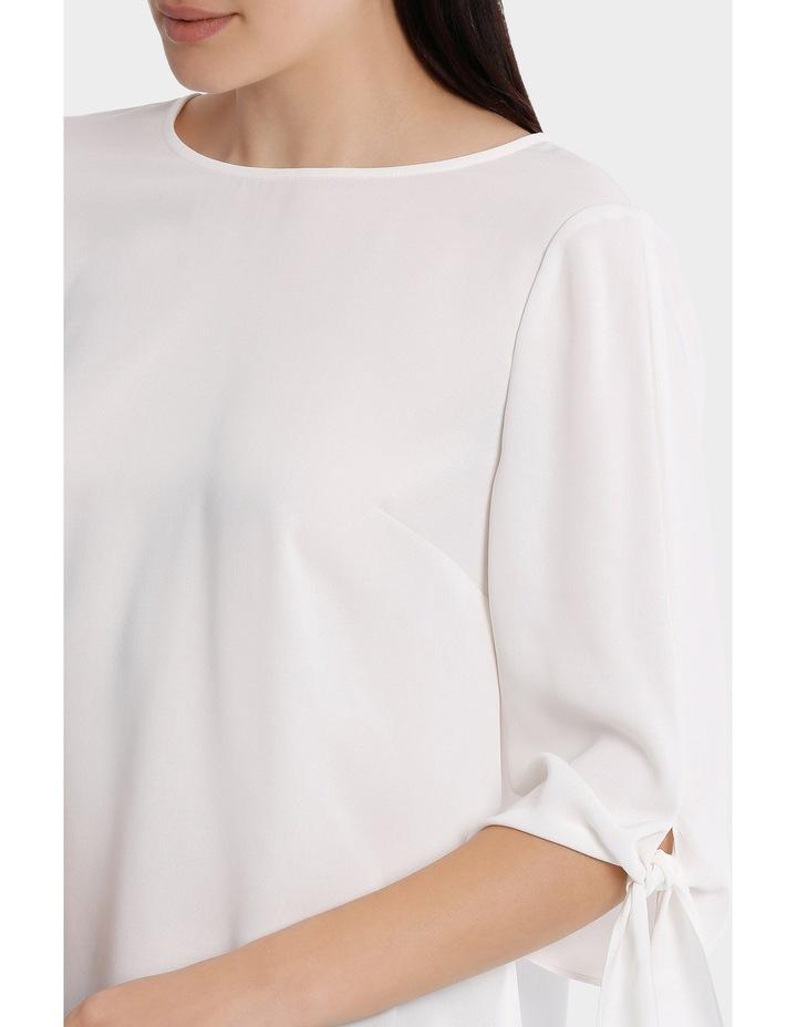 tie flute sleeve blouse image 4
