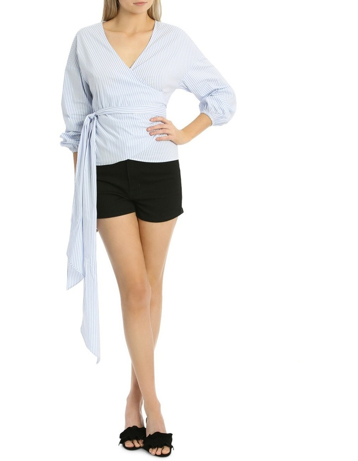 Rouched Sleeve Wrap Shirt image 1