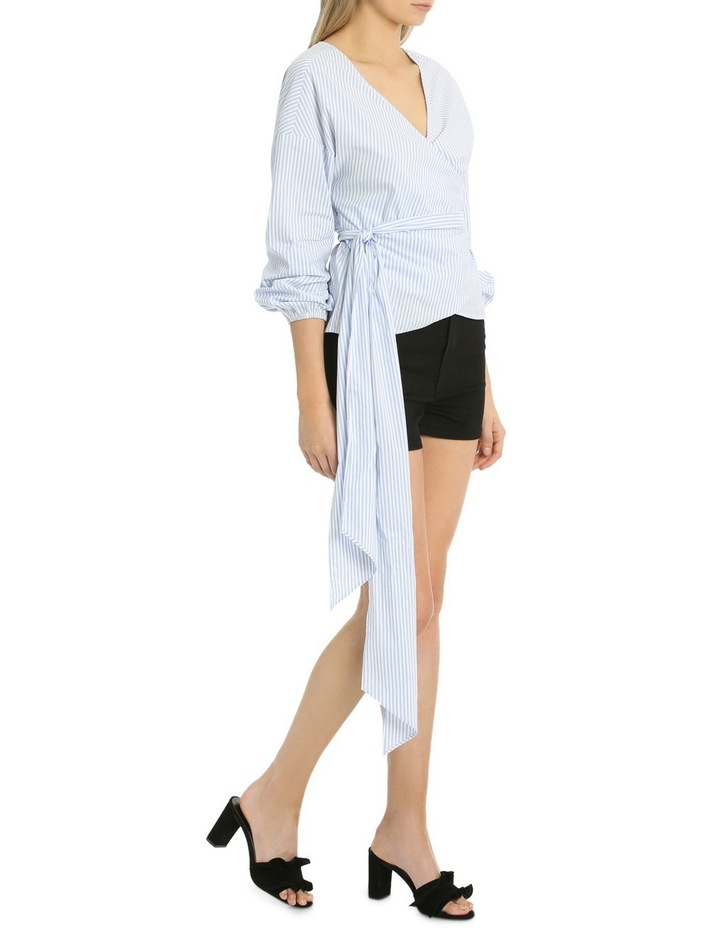 Rouched Sleeve Wrap Shirt image 2