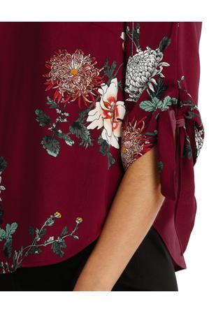 Tokito Petites - Tie Flute Sleeve Imperial Floral Blouse