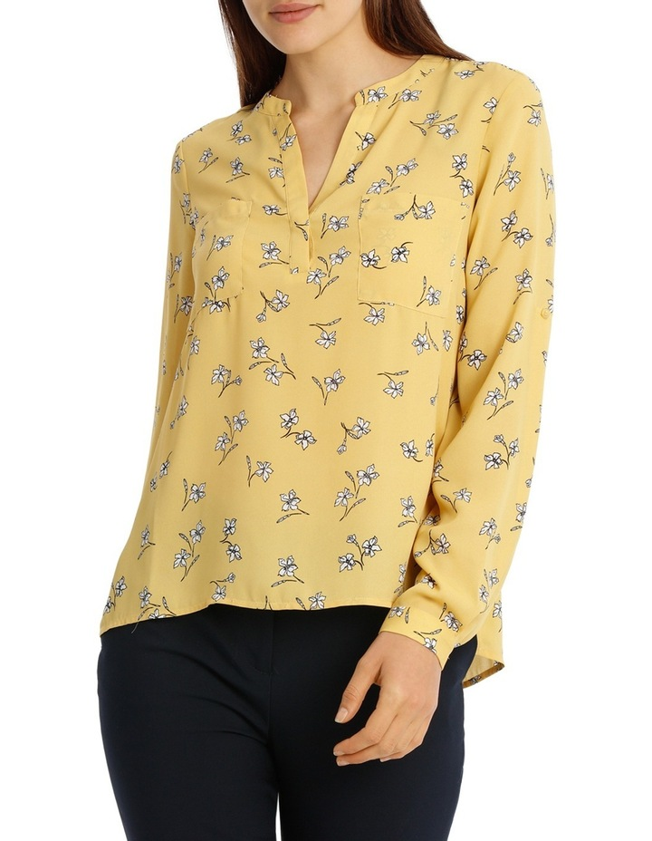 Collarless Double Pocket Shirt - Tossed Disty image 1