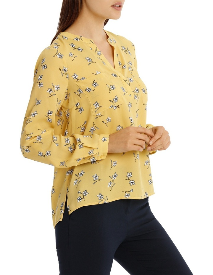 Collarless Double Pocket Shirt - Tossed Disty image 2
