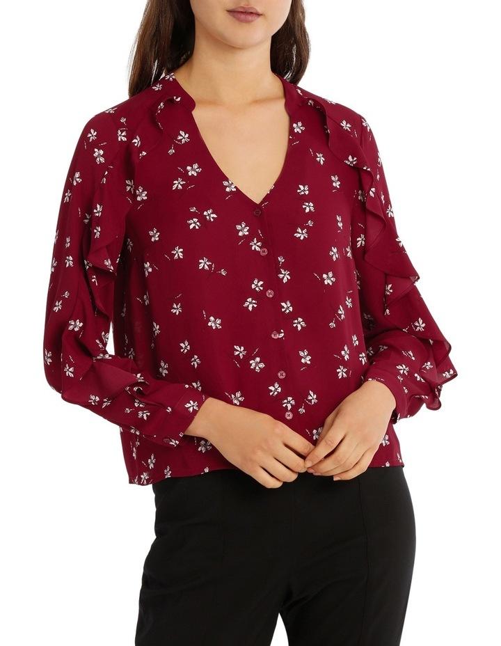Ruffle Sleeve Shirt - Tossed Ditsy image 1