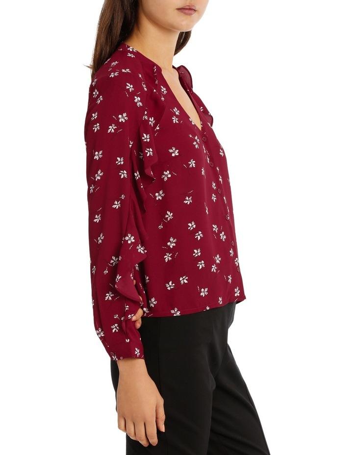 Ruffle Sleeve Shirt - Tossed Ditsy image 2