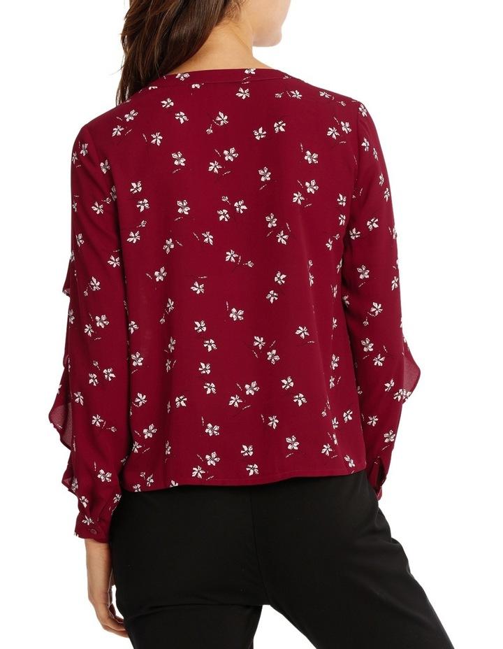 Ruffle Sleeve Shirt - Tossed Ditsy image 3
