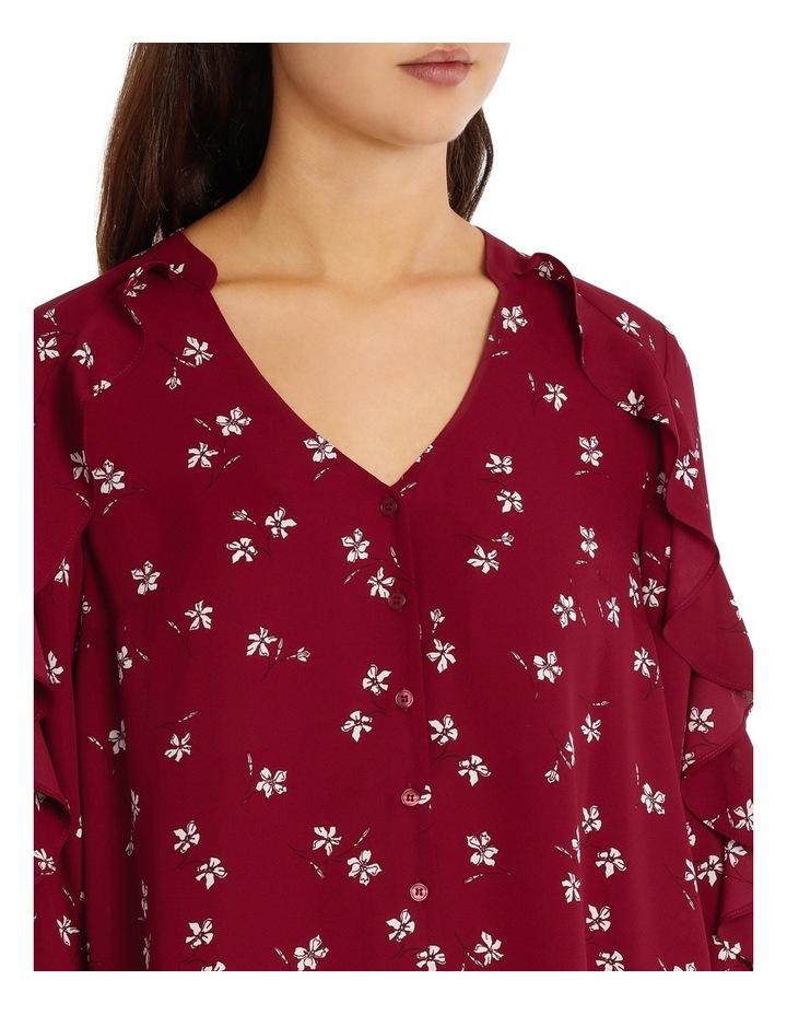 Ruffle Sleeve Shirt - Tossed Ditsy image 4