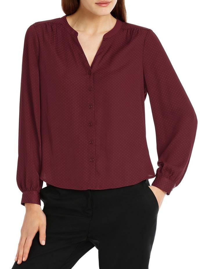 Volume Sleeve Shirt - Plum image 1