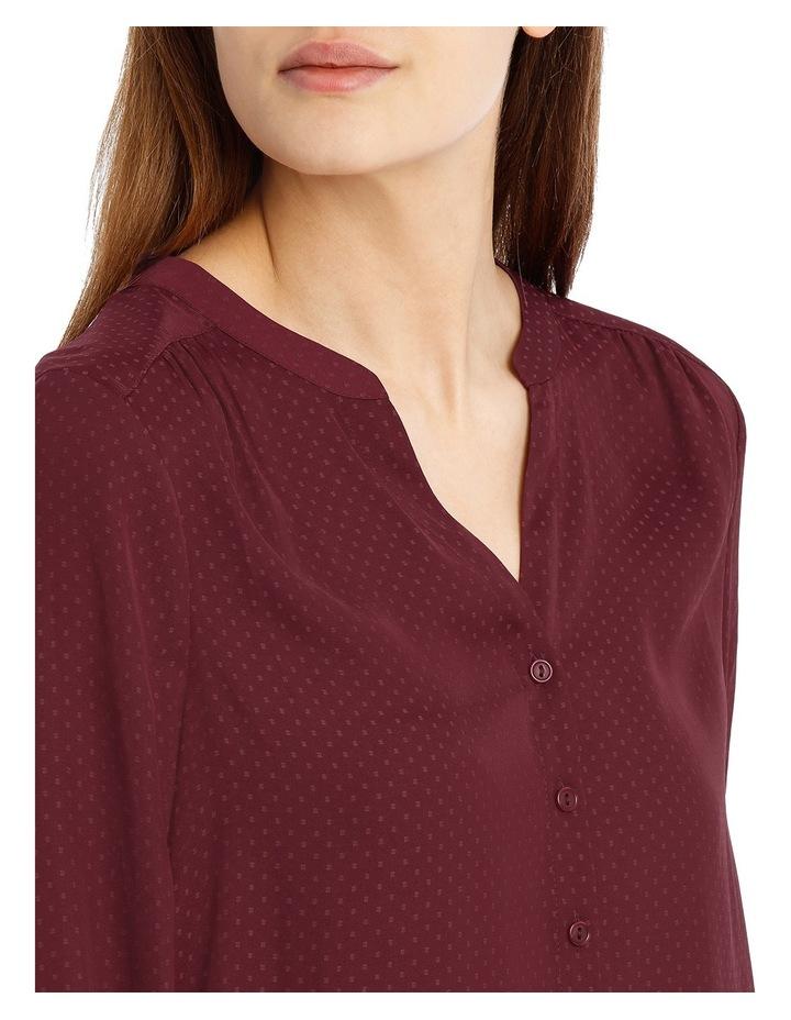 Volume Sleeve Shirt - Plum image 4