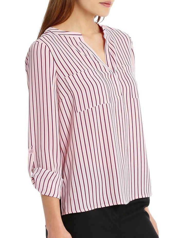 Double Pocket Roll Sleeve Shirt - Stripe image 2