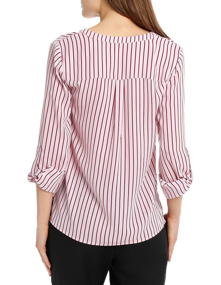 Double Pocket Roll Sleeve Shirt - Stripe image 3