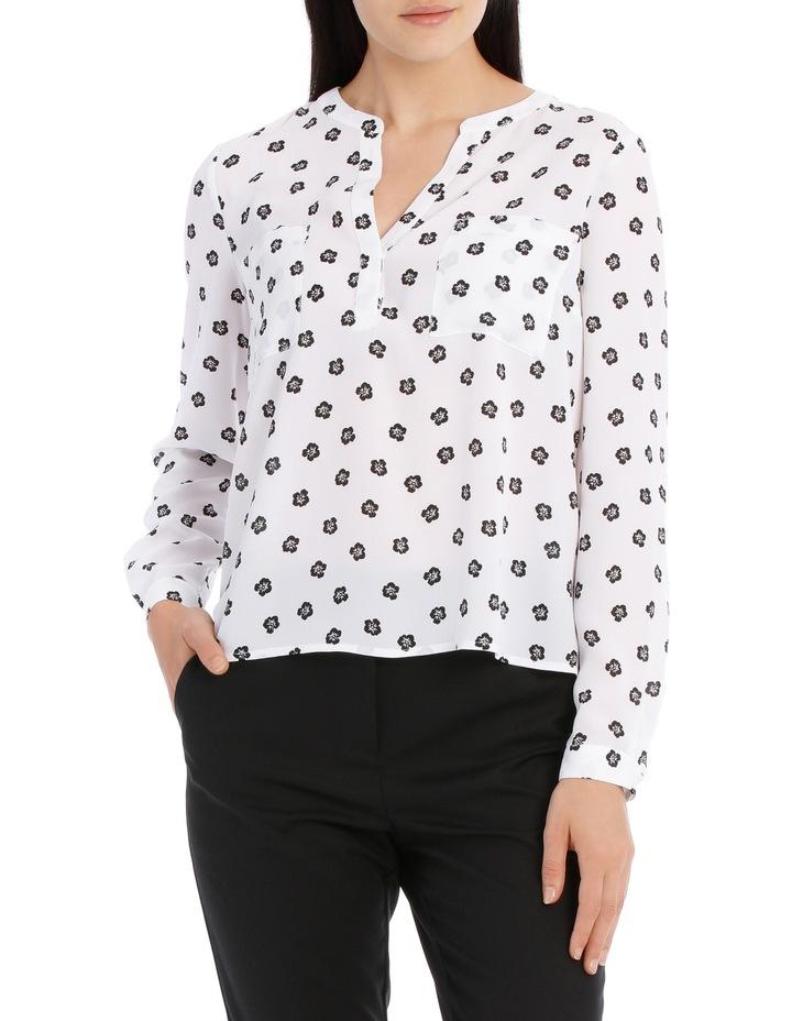 Double Pocket Roll Sleeve Shirt - Poppy Spot image 1