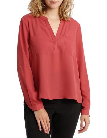 2206be294ff Tokito Petitesdouble pocket roll slv shirt - rust. Tokito Petites double  pocket roll slv shirt - rust