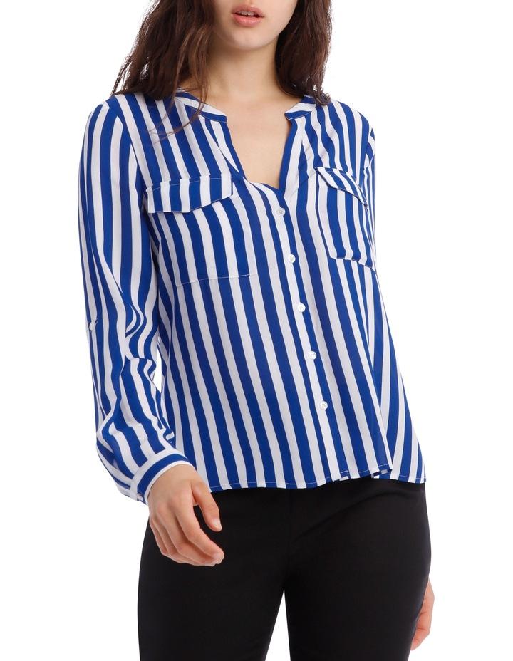 Button Through Shirt - Stripe image 1