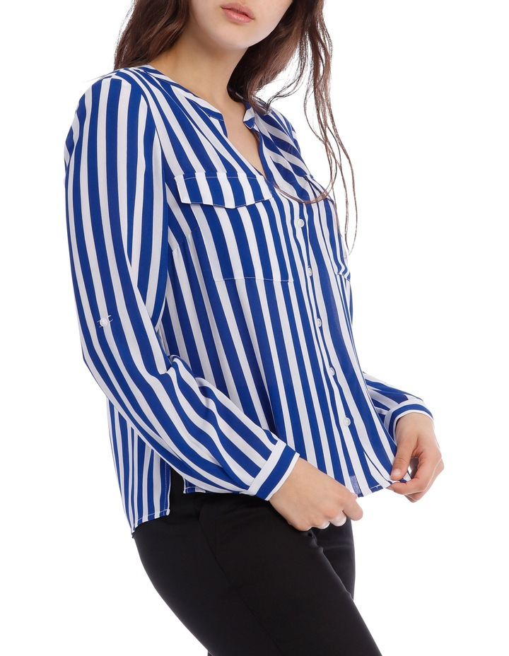 Button Through Shirt - Stripe image 2