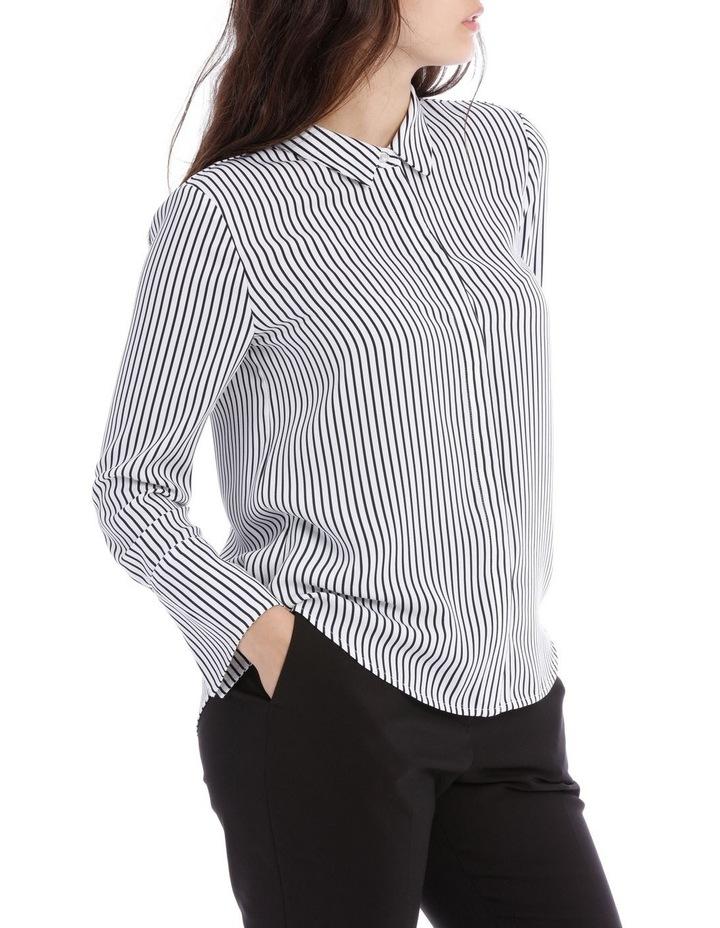 Navy Stripe Work Shirt image 2