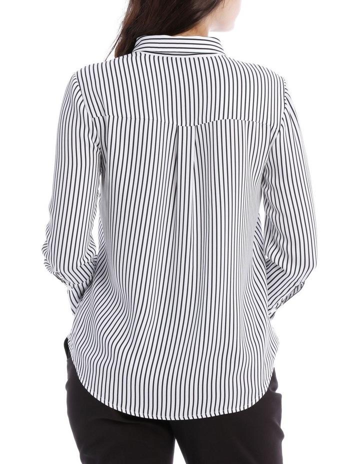 Navy Stripe Work Shirt image 3