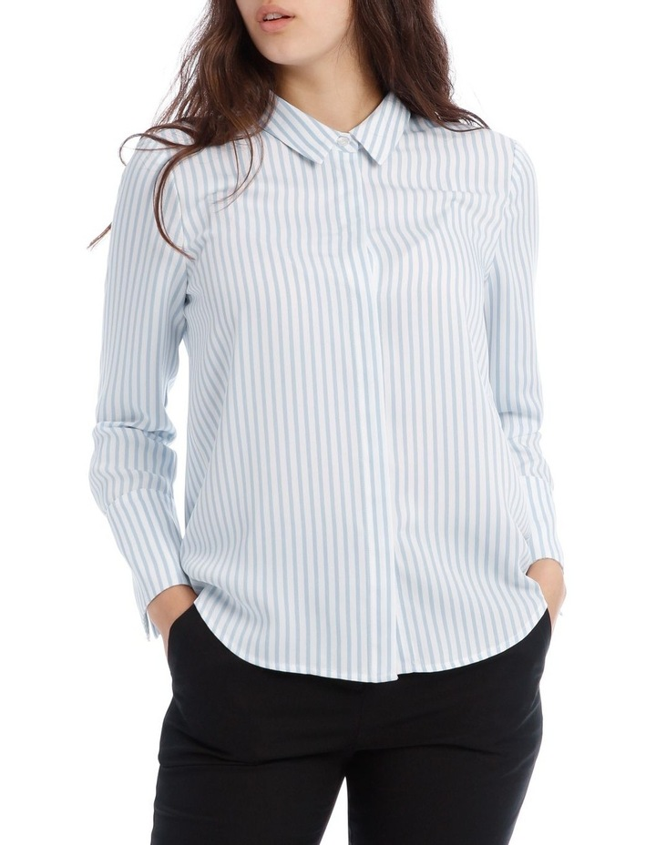 Blue Stripe Work Shirt image 1
